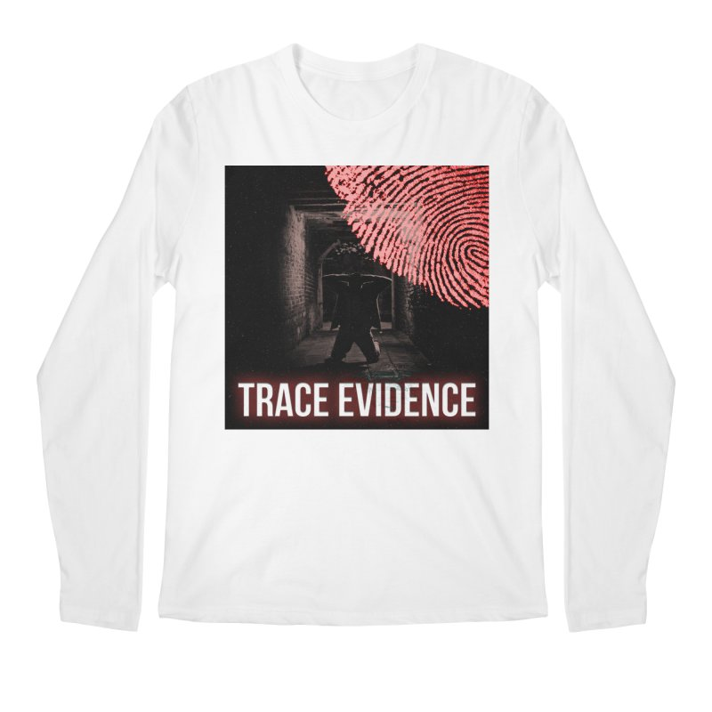 Red Logo Men's Regular Longsleeve T-Shirt by Trace Evidence - A True Crime Podcast