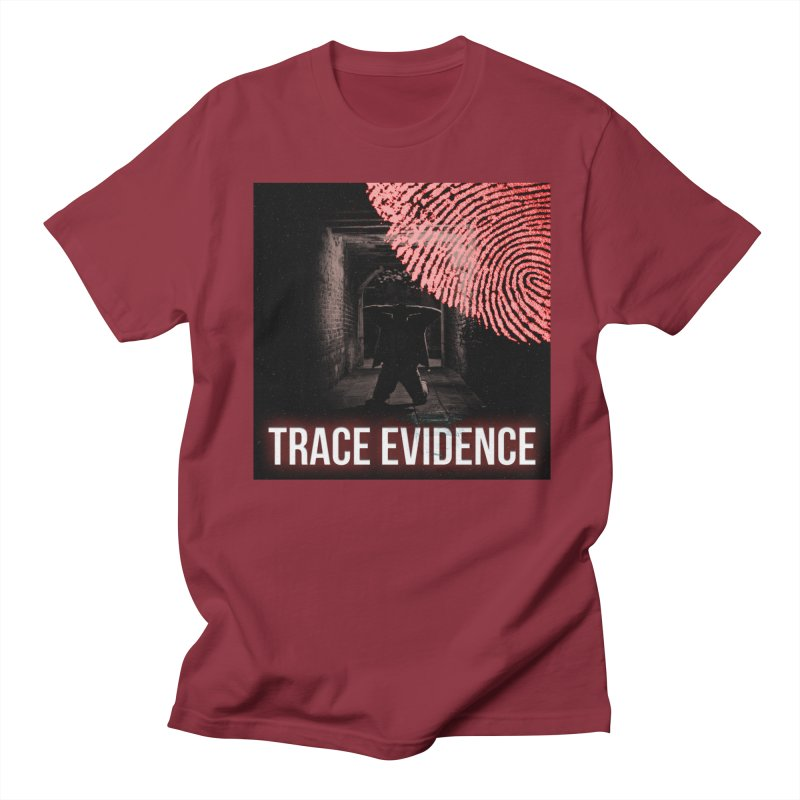 Red Logo Men's T-Shirt by Trace Evidence - A True Crime Podcast