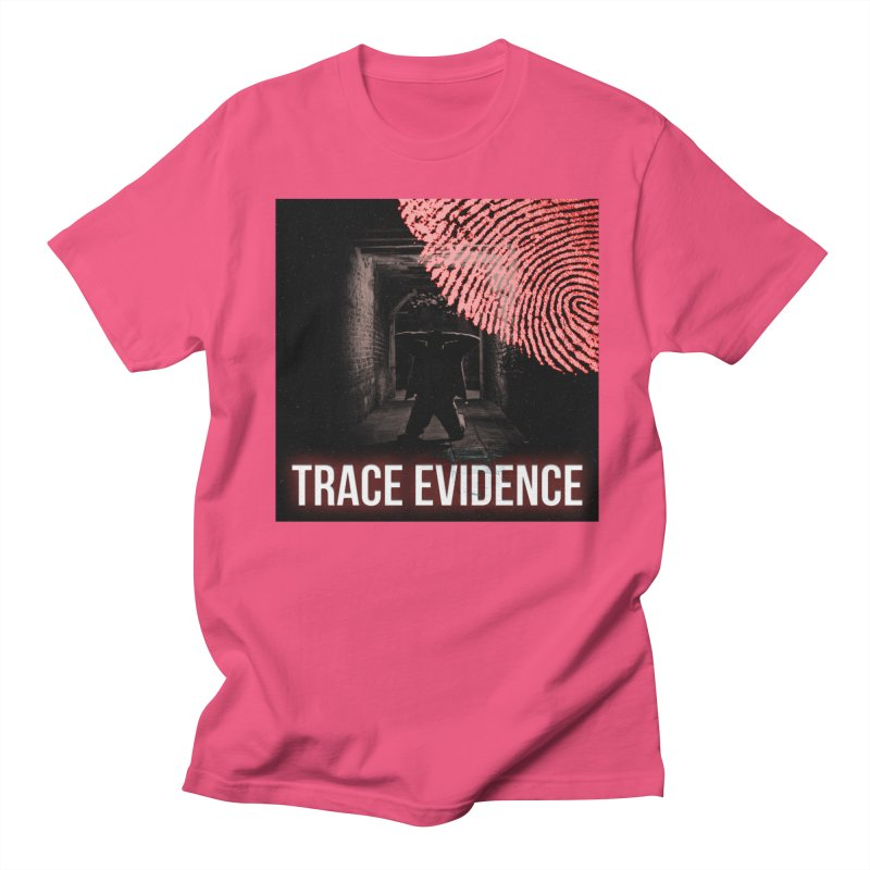 Red Logo Men's Regular T-Shirt by Trace Evidence - A True Crime Podcast
