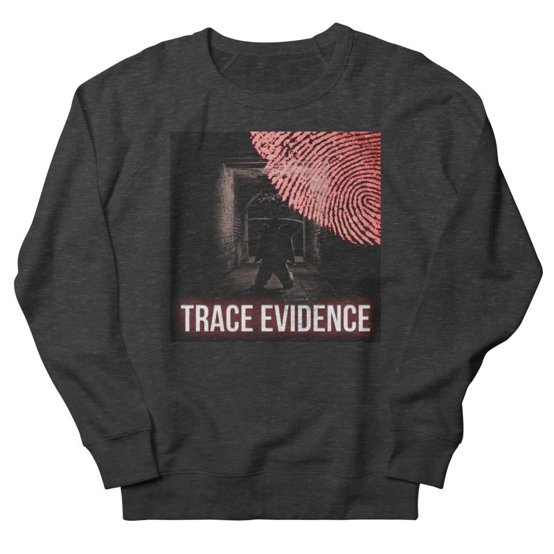 Red Logo Men's French Terry Sweatshirt by Trace Evidence - A True Crime Podcast