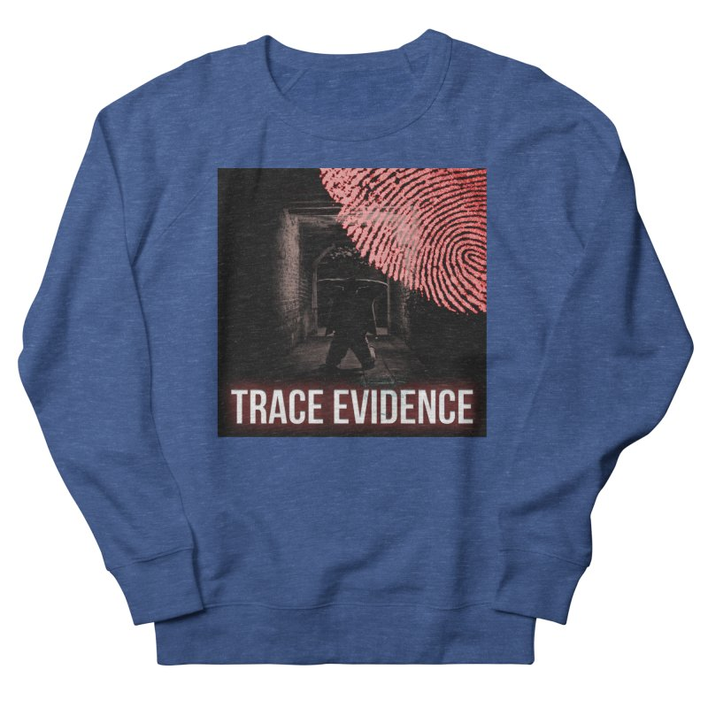 Red Logo Men's Sweatshirt by Trace Evidence - A True Crime Podcast