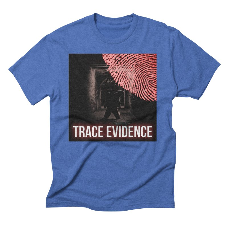 Red Logo Men's Triblend T-Shirt by Trace Evidence - A True Crime Podcast