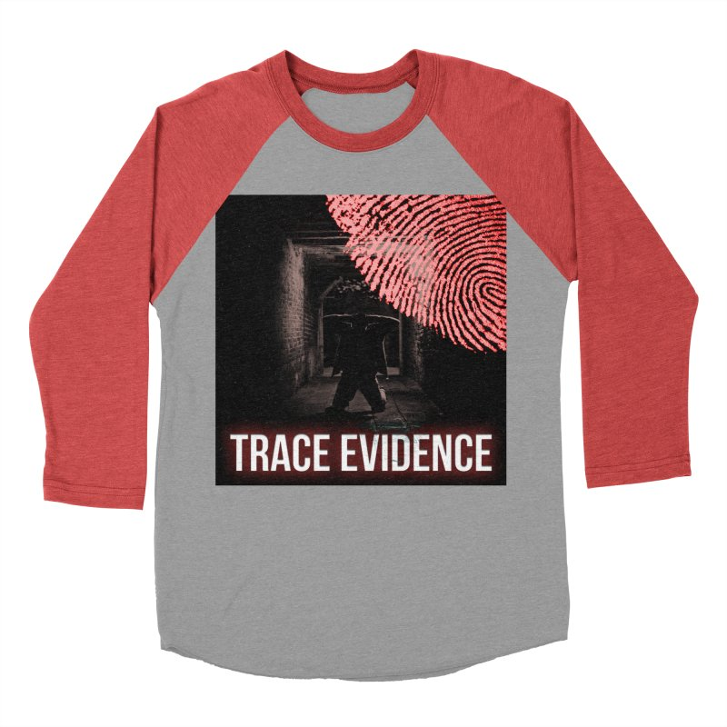Red Logo Women's Baseball Triblend Longsleeve T-Shirt by Trace Evidence - A True Crime Podcast