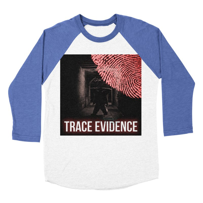 Red Logo Men's Baseball Triblend Longsleeve T-Shirt by Trace Evidence - A True Crime Podcast