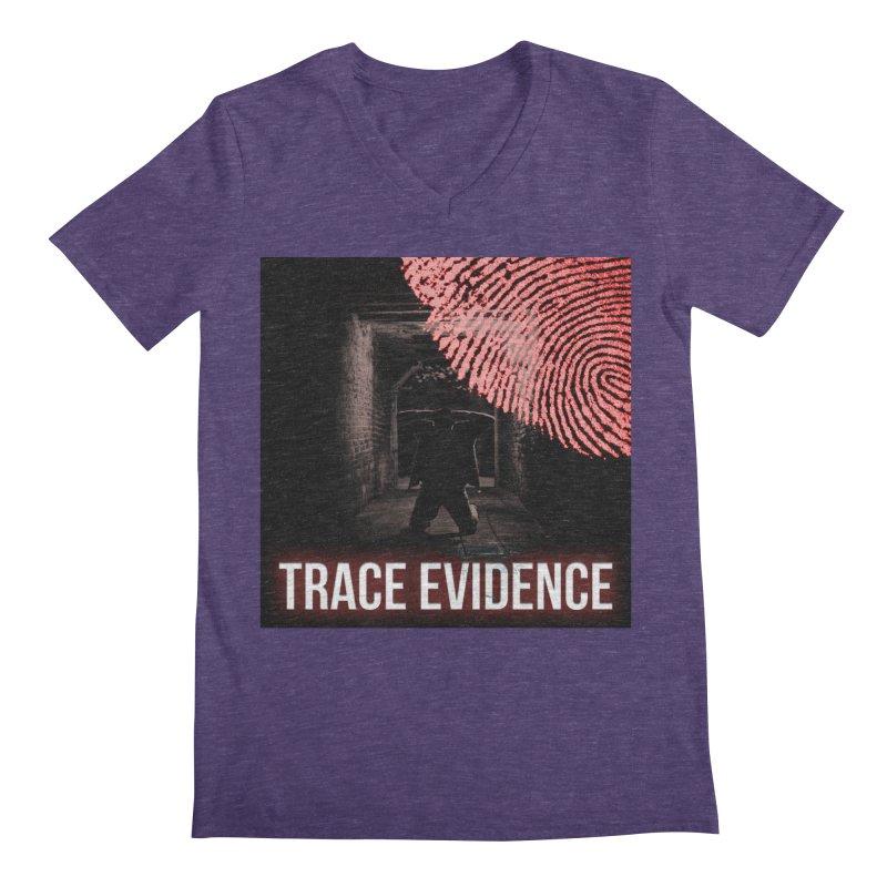 Red Logo Men's Regular V-Neck by Trace Evidence - A True Crime Podcast