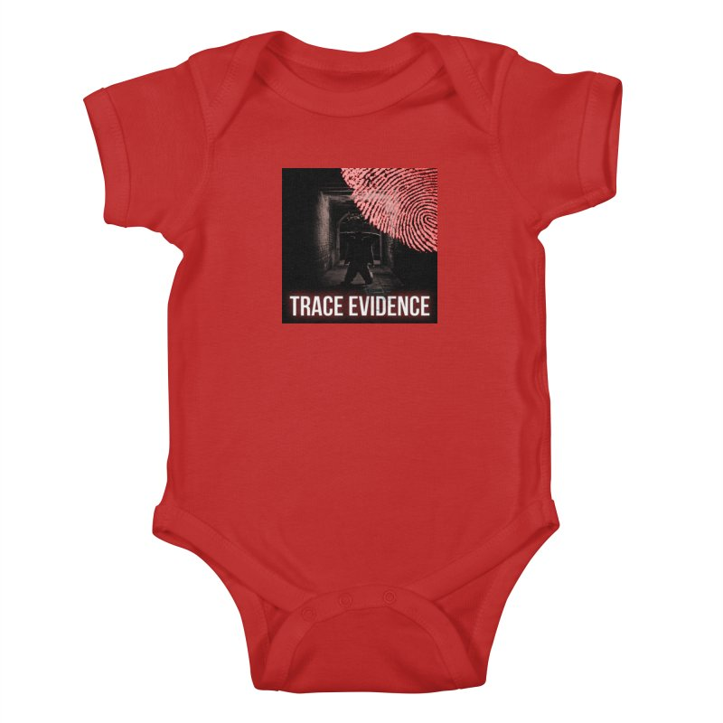Red Logo Kids Baby Bodysuit by Trace Evidence - A True Crime Podcast