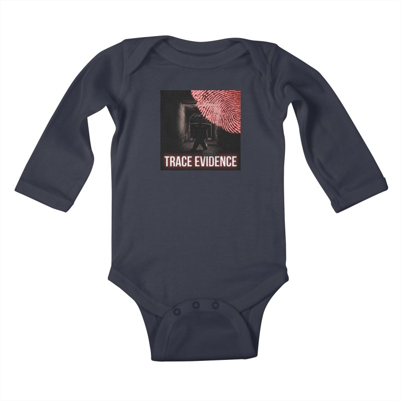 Red Logo Kids Baby Longsleeve Bodysuit by Trace Evidence - A True Crime Podcast