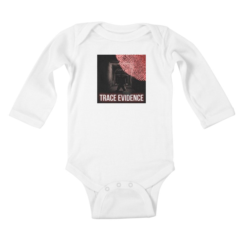 Red Logo Kids Baby Longsleeve Bodysuit by Trace Evidence - A True Crime Podcast