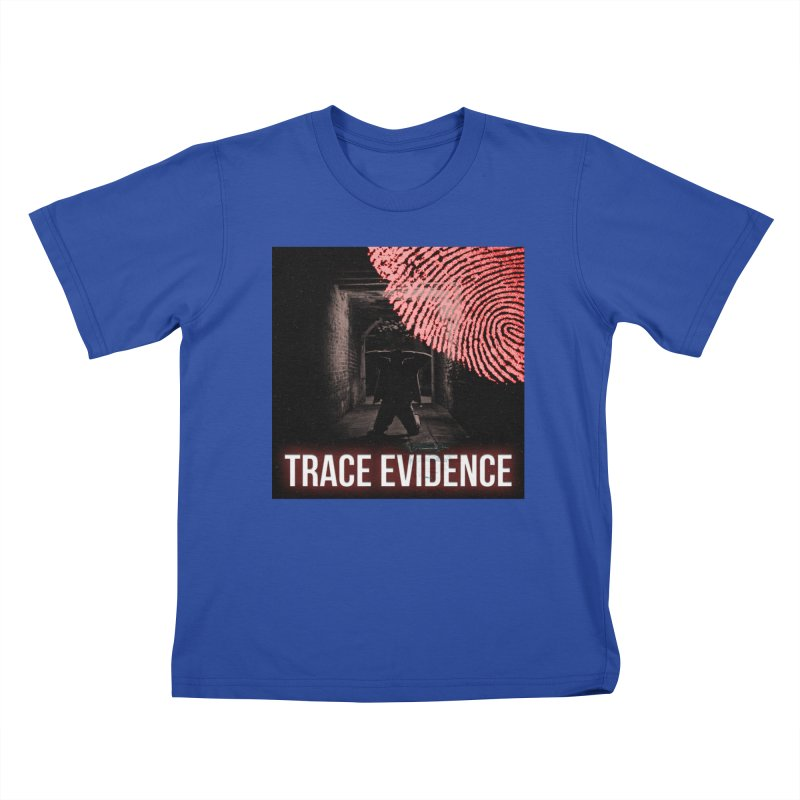 Red Logo Kids T-Shirt by Trace Evidence - A True Crime Podcast
