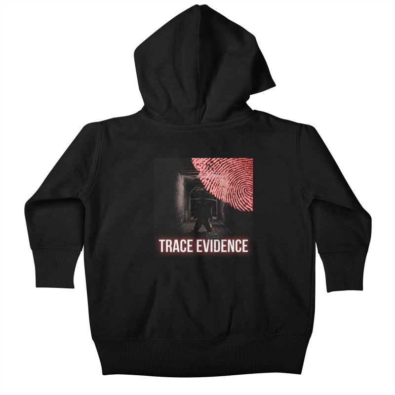 Red Logo Kids Baby Zip-Up Hoody by Trace Evidence - A True Crime Podcast