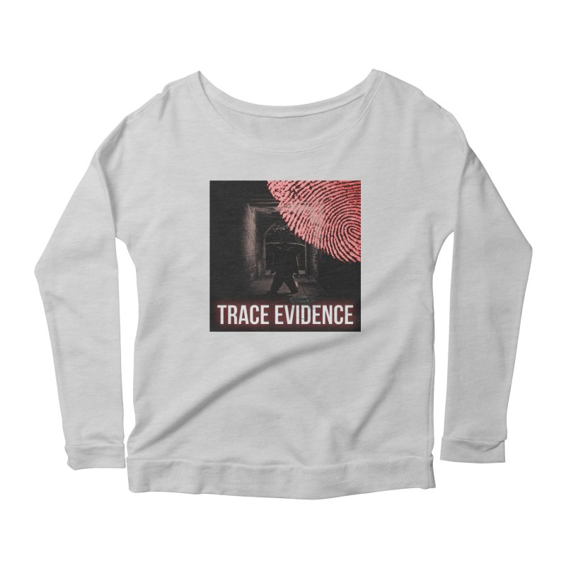 Red Logo Women's Scoop Neck Longsleeve T-Shirt by Trace Evidence - A True Crime Podcast