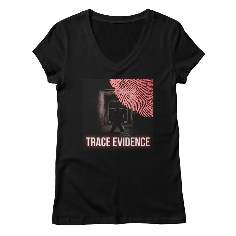 Red Logo Women's V-Neck by Trace Evidence - A True Crime Podcast