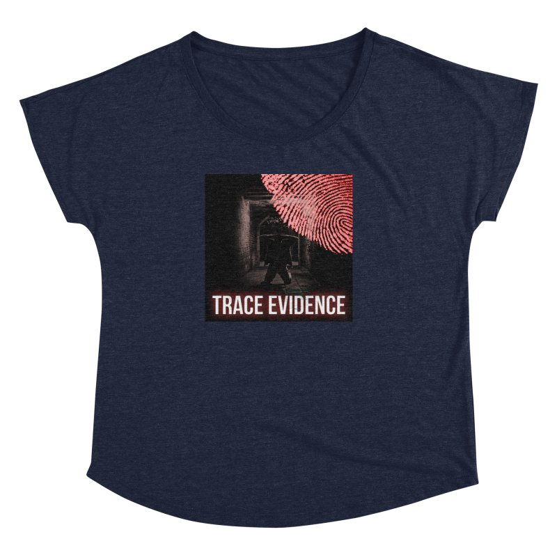 Red Logo Women's Dolman Scoop Neck by Trace Evidence - A True Crime Podcast