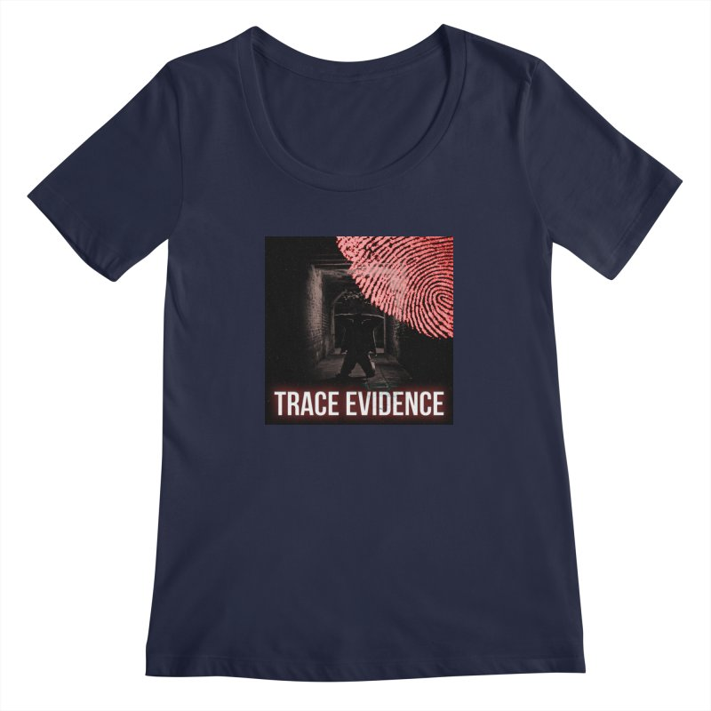Red Logo Women's Regular Scoop Neck by Trace Evidence - A True Crime Podcast