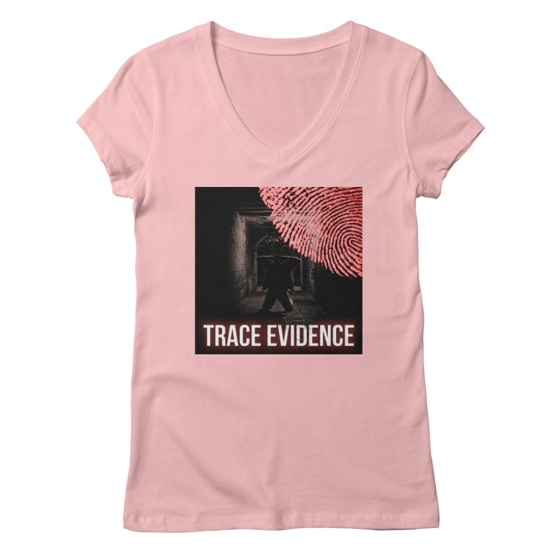 Red Logo Women's Regular V-Neck by Trace Evidence - A True Crime Podcast