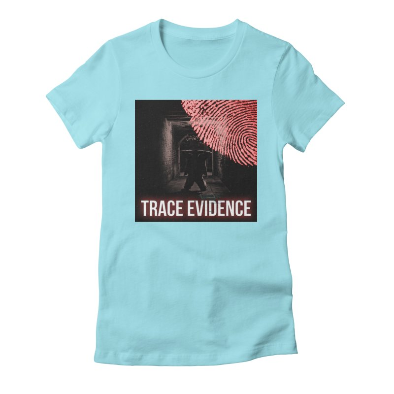 Red Logo Women's Fitted T-Shirt by Trace Evidence - A True Crime Podcast