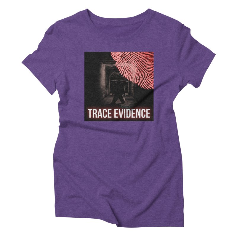 Red Logo Women's Triblend T-Shirt by Trace Evidence - A True Crime Podcast
