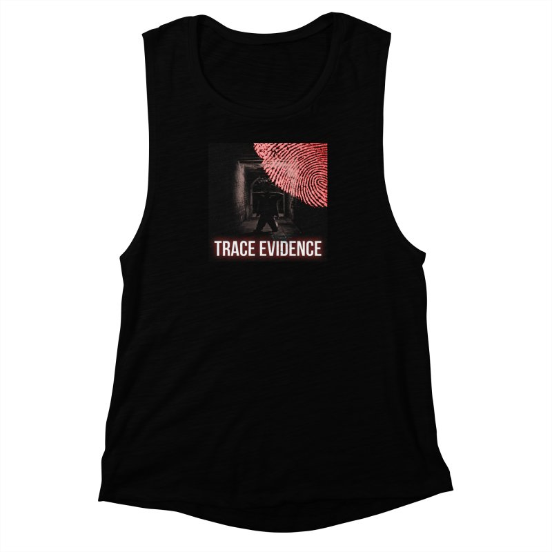 Red Logo Women's Muscle Tank by Trace Evidence - A True Crime Podcast