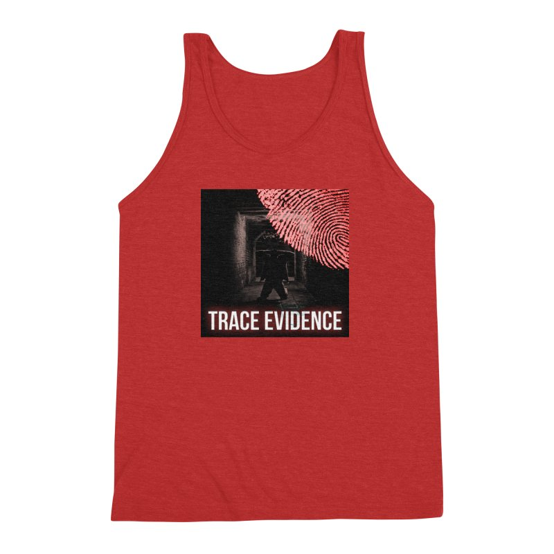 Red Logo Men's Triblend Tank by Trace Evidence - A True Crime Podcast