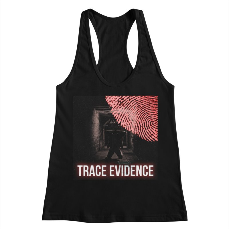 Red Logo Women's Racerback Tank by Trace Evidence - A True Crime Podcast
