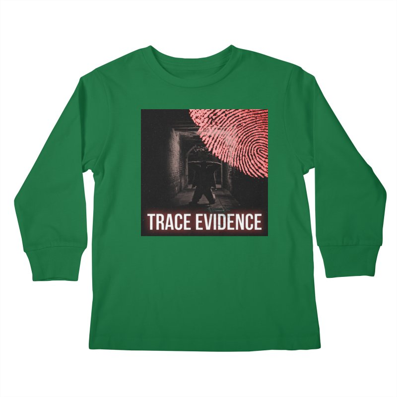 Red Logo Kids Longsleeve T-Shirt by Trace Evidence - A True Crime Podcast