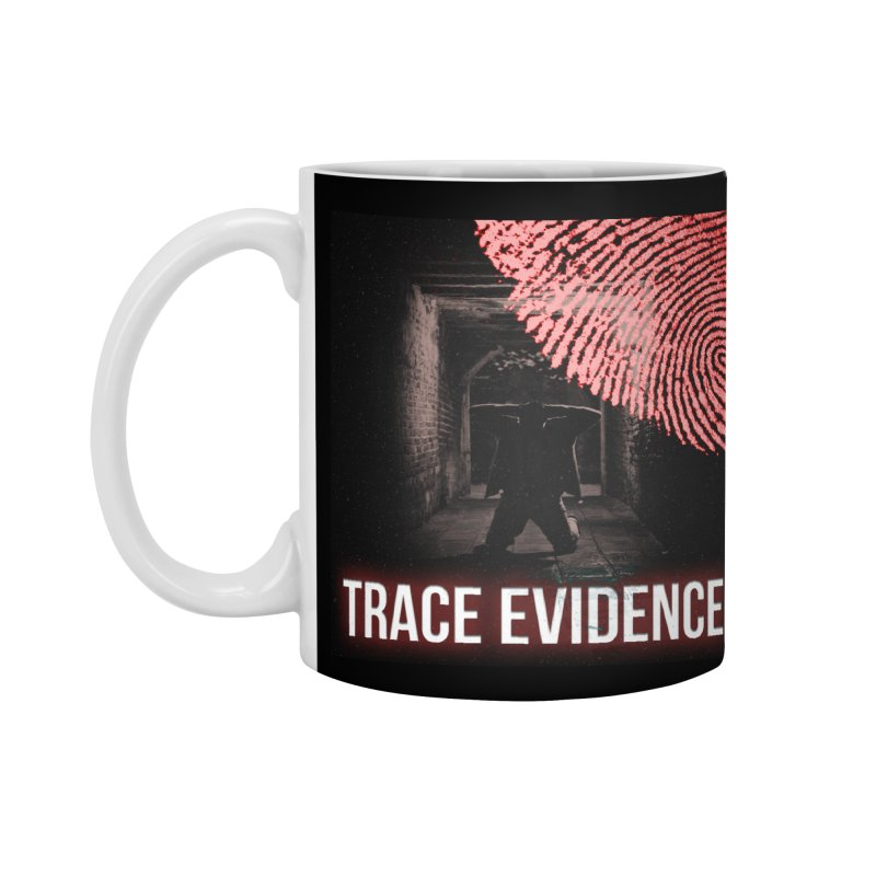 Red Logo Accessories Standard Mug by Trace Evidence - A True Crime Podcast