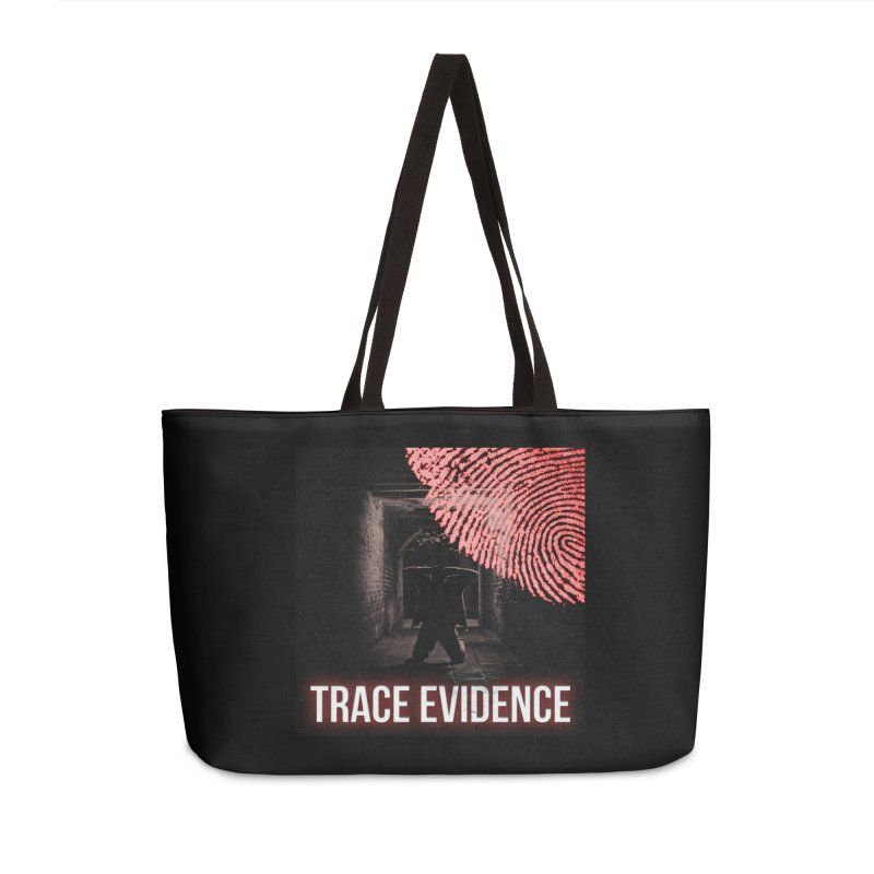 Red Logo Accessories Weekender Bag Bag by Trace Evidence - A True Crime Podcast