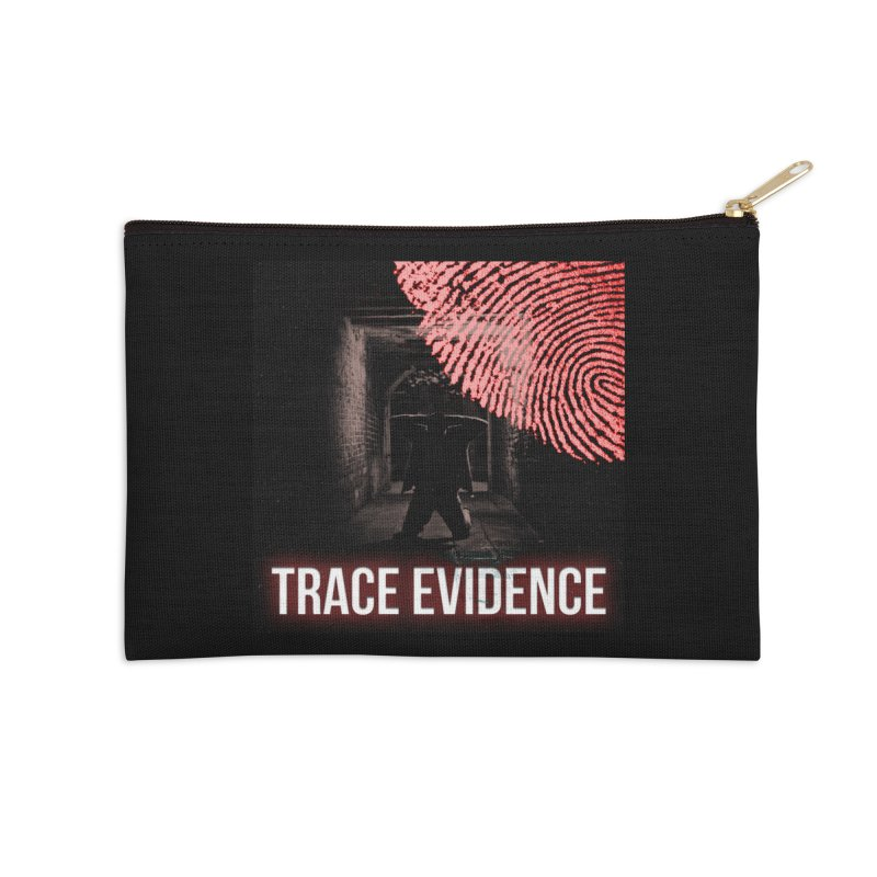 Red Logo Accessories Zip Pouch by Trace Evidence - A True Crime Podcast