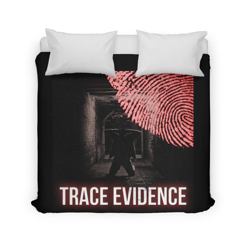 Red Logo Home Duvet by Trace Evidence - A True Crime Podcast