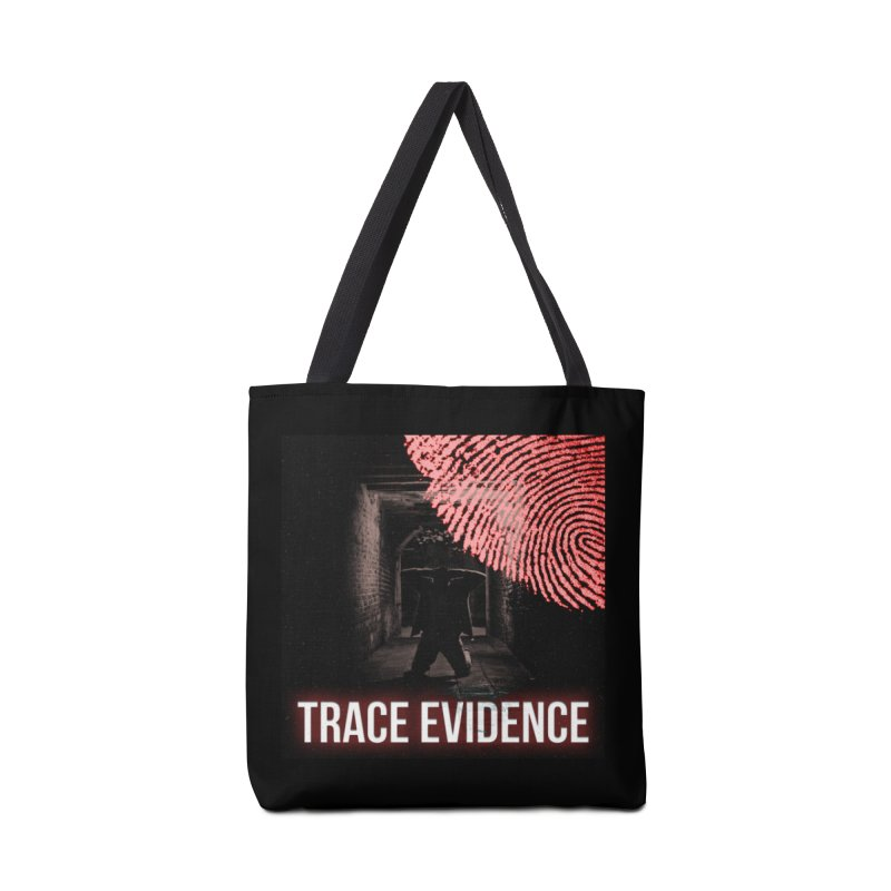 Red Logo Accessories Tote Bag Bag by Trace Evidence - A True Crime Podcast