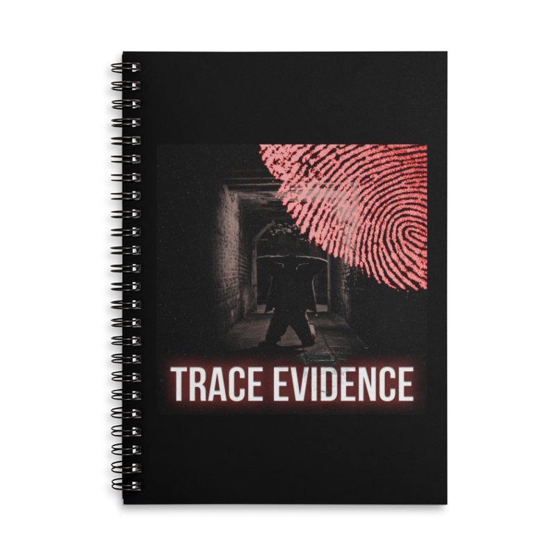 Red Logo Accessories Lined Spiral Notebook by Trace Evidence - A True Crime Podcast