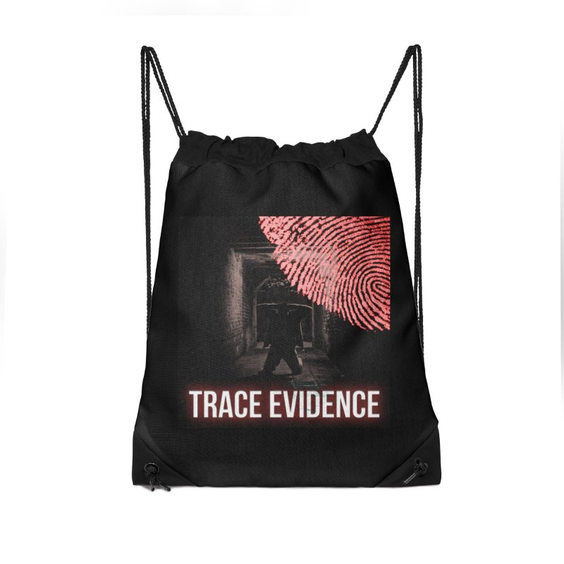 Red Logo Accessories Drawstring Bag Bag by Trace Evidence - A True Crime Podcast