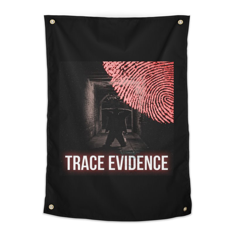 Red Logo Home Tapestry by Trace Evidence - A True Crime Podcast