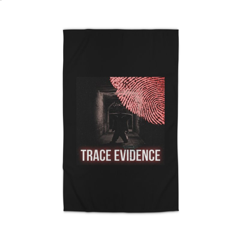 Red Logo Home Rug by Trace Evidence - A True Crime Podcast
