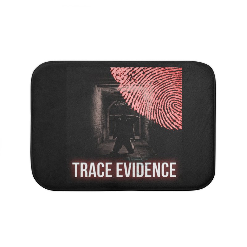 Red Logo Home Bath Mat by Trace Evidence - A True Crime Podcast