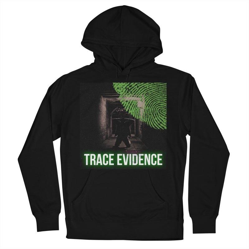 Green Logo Men's French Terry Pullover Hoody by Trace Evidence - A True Crime Podcast