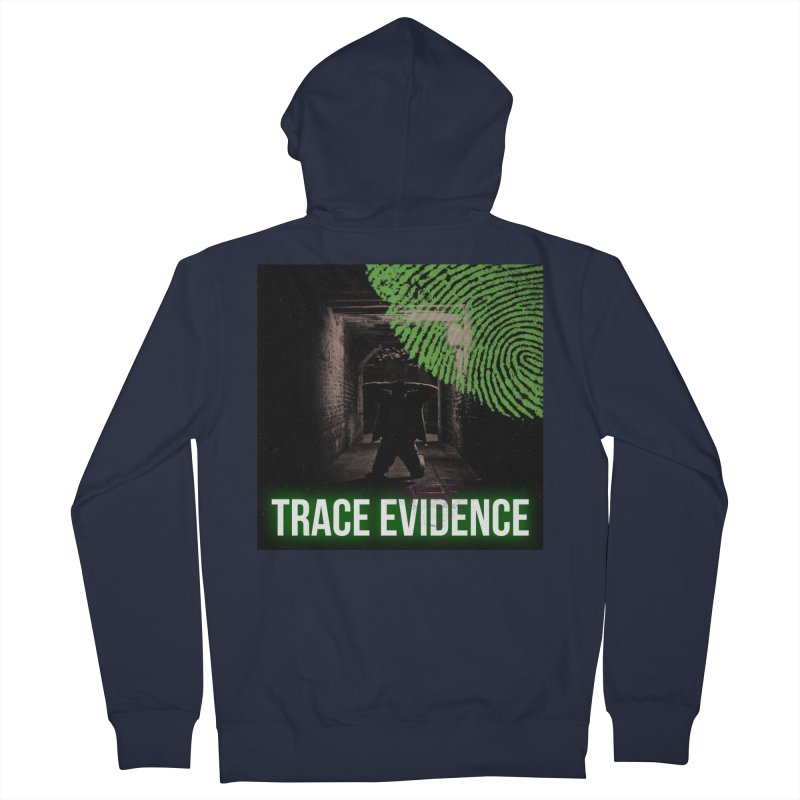Green Logo Men's French Terry Zip-Up Hoody by Trace Evidence - A True Crime Podcast