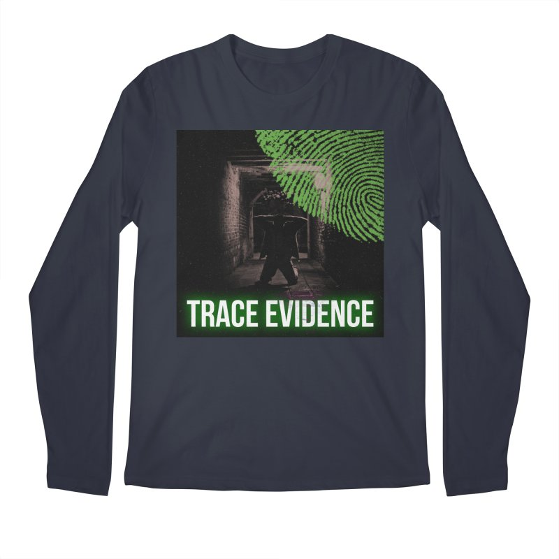 Green Logo Men's Regular Longsleeve T-Shirt by Trace Evidence - A True Crime Podcast