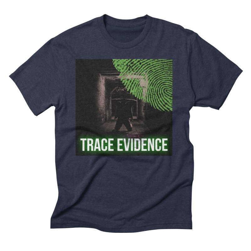 Green Logo Men's Triblend T-Shirt by Trace Evidence - A True Crime Podcast