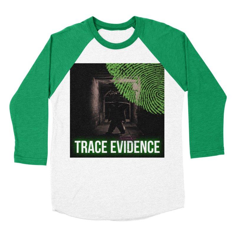 Green Logo Women's Baseball Triblend Longsleeve T-Shirt by Trace Evidence - A True Crime Podcast
