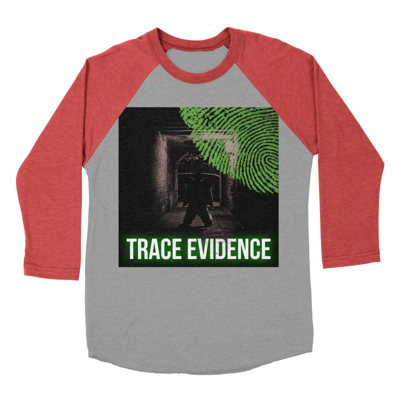 Green Logo Men's Baseball Triblend Longsleeve T-Shirt by Trace Evidence - A True Crime Podcast
