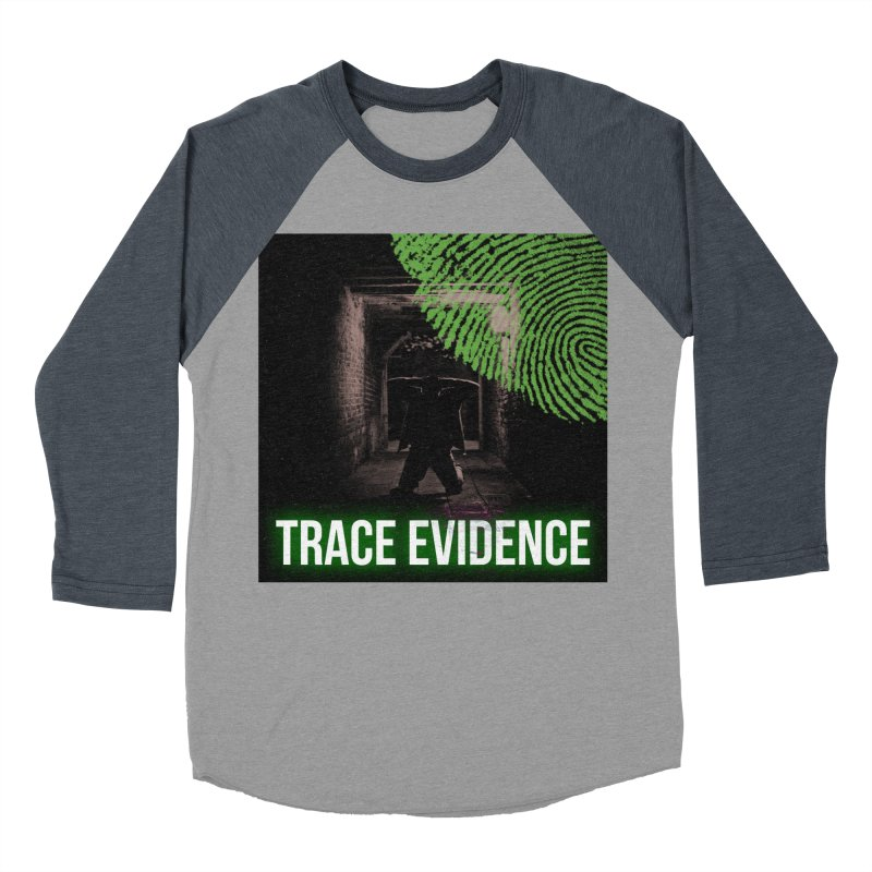 Green Logo Men's Baseball Triblend Longsleeve T-Shirt by Trace Evidence - A True Crime Podcast