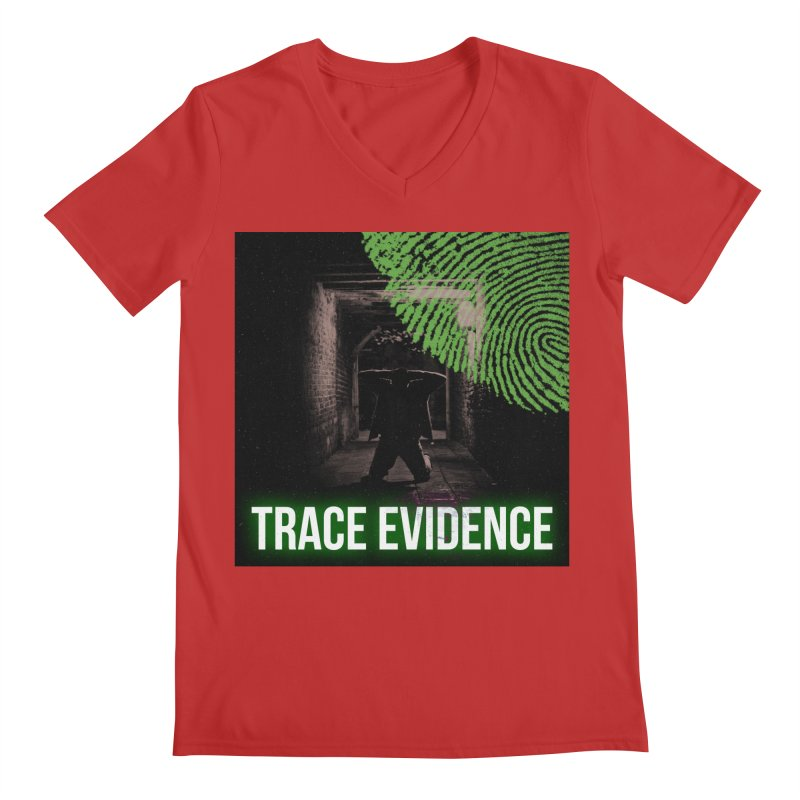 Green Logo Men's Regular V-Neck by Trace Evidence - A True Crime Podcast