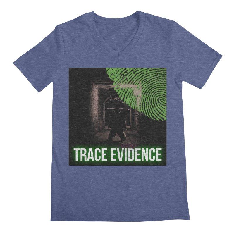 Green Logo Men's Regular V-Neck by Trace Evidence - A True Crime Podcast