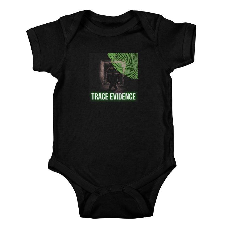 Green Logo Kids Baby Bodysuit by Trace Evidence - A True Crime Podcast