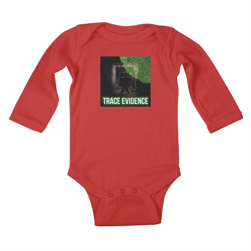 Green Logo Kids Baby Longsleeve Bodysuit by Trace Evidence - A True Crime Podcast
