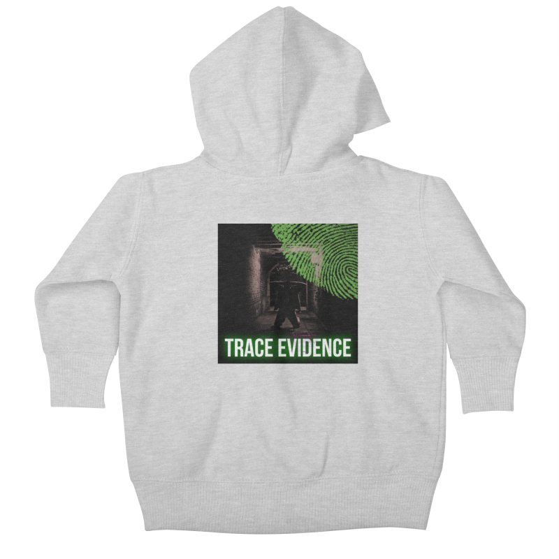 Green Logo Kids Baby Zip-Up Hoody by Trace Evidence - A True Crime Podcast