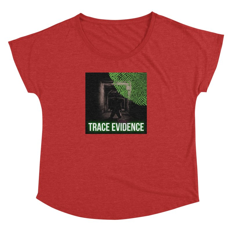 Green Logo Women's Dolman Scoop Neck by Trace Evidence - A True Crime Podcast