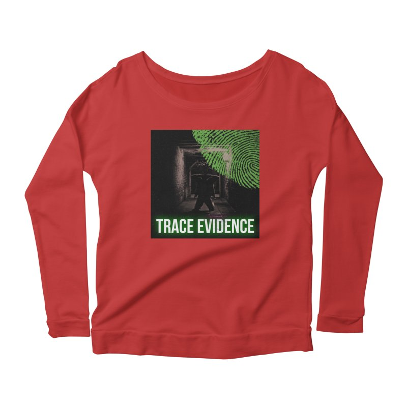 Green Logo Women's Scoop Neck Longsleeve T-Shirt by Trace Evidence - A True Crime Podcast