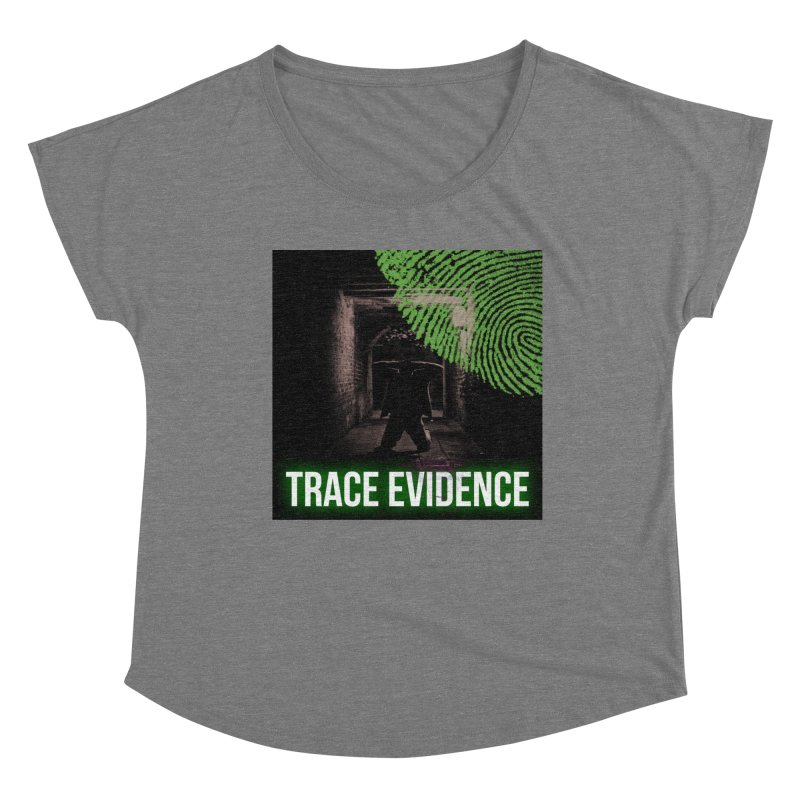 Green Logo Women's Scoop Neck by Trace Evidence - A True Crime Podcast